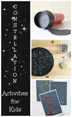 These constellation activities are out of this world! Check out these great constellation activities for kids for fun ways to explore space at home or in the classroom! Outer Space Activities for Kids Space Activities For Kids, Creative Activities, Stem Activities, Summer Activities, Outdoor Activities, Constellation Activities, Constellation Craft, Preschool Science, Science For Kids