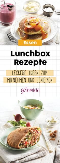 Mitnehmen und genießen: So genial sind unsere 5 leckeren Lunchbox-Rezepte For the office, the university or simply on the way. With our ingenious recipe ideas you are well supplied anytime, anywhere. Eat Lunch, Lunch To Go, Lunch Snacks, Lunch Box Recipes, Breakfast Recipes, Food To Go, Food And Drink, Essen To Go, Boite A Lunch