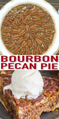 Homemade Pecan Pie is unbelievably good and rich. The homemade crust is buttery, and the pecan filling has been flavored with bourbon. recipes Homemade Pecan Pie with Bourbon [VIDEO] - Sweet and Savory Meals Pecan Recipes, Tart Recipes, Best Dessert Recipes, Baking Recipes, Best Pecan Pie Recipe, Pecan Pies, Bourbon Pecan Pie, Pecan Pie Cobbler, Pecan Pie Filling