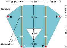 Bauanleitung Sled-Kinderdrachen Kite Building, Ems, Kites Craft, Kite Designs, Autumn Crafts, School Projects, School Design, Wind Turbine, Draco