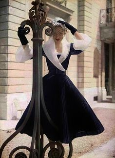 Photo by Philippe Pottier, 1951. #Modest doesn't mean frumpy. www.ColleenHammond.com #style #fashion #image