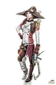 Amazing Captain Scarlett cosplay. Borderlands 2