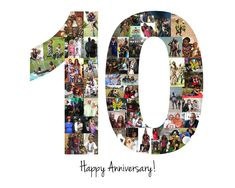 10 Year Anniversary Gift, Anniversary Gift, Wedding Anniversary, 10 Number Collage, Photo Collage by LuluBluePhoto on Etsy