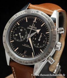 Omega Speedmaster '57 revisitée sur bracelet cuir - prix, photos