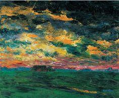 Emil Nolde, Ruffled Autumn Clouds, 1927, oil on canvas, 73.5x88.5cm, Nolde Stiftung Seebüll