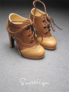 Sweetiiger handmade 1/3 BJD high heels shoes for by DollWigDIY