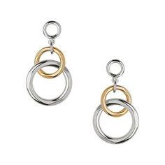 Women Earrings, Bi-Metal Chandelier Earrings, Official Links of London Metal Chandelier, Chandelier Earrings, Women's Earrings, Links Of London, Bling, Valentines, Jewels, Personalized Items, Sterling Silver
