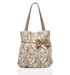 Lace Bow Tote - so on trend and perfect for shopping