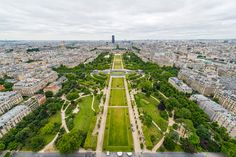 Champ de Mars, View From The Eiffel Tower