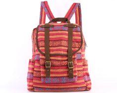 Orange Rucksack BohoChic Backpack by TaTonYon on Etsy