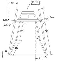 Skema Box speaker 12'' Lapangan Planar Super Jauh - BANTOEL .COM Subwoofer Box Design, Speaker Box Design, Horn Speakers, Diy Speakers, 12 Inch Speaker Box, Best Loudspeakers, Stage Equipment, Speaker Plans, Altec Lansing