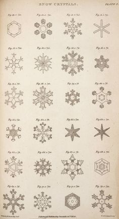Scoresby, William, 1820, An account of the Arctic Regions, v.2. Plate 10, Snow crystals