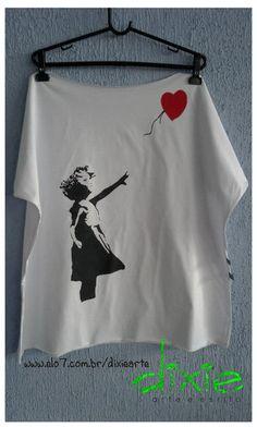 Camisetão Banksy 100% algodão Tamanho Único R$70,00