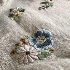 #embroidery #蓬莱和歌子 #刺繍 #大人の花刺繍 #手仕事 #ハンドメイド