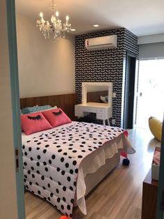 Girly Bedroom Decor, Bedroom Closet Design, Bedroom Wall Colors, Bedroom Furniture Design, Girl Bedroom Designs, Room Ideas Bedroom, Home Room Design, Bedroom Styles, Dream Rooms