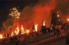 In New Orleans, Louisiana, on Christmas Eve, people build giant bonfires, called Feux de Joie, along the Mississippi to light Santa's path.