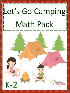 Inside this Free Let's Go Camping Math Pack you'll find 30+ addition and subtraction worksheets (including single, double and triple digit problems!) and flashcards! :: todaysfrugalmom.com