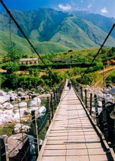 Sapa, Vietnam - I walked over this bridge