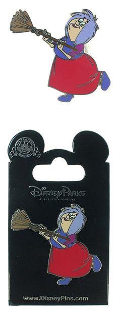 $10.95 - Disney The Sword in the Stone Madam Mim with Broom Pin #disney