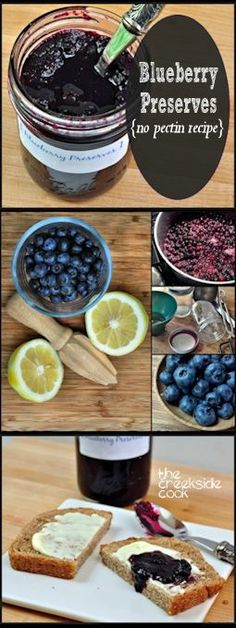 Pure blueberry flavor in these amazing preserves - no pectin, just time and patience! | The Creekside Cook | #blueberries #slowfood #preserves