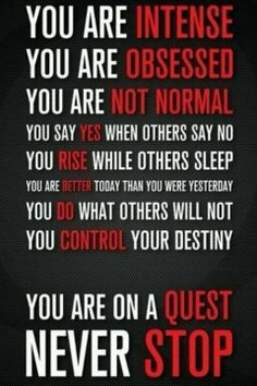 You are on a quest never stop @Elsa Mejia