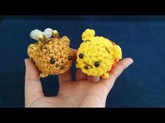 かぎ編みで編む(only hook)ツムツム(TSUM TSUM)プーさん&ハチプー(Winnie the Pooh&Bee Pooh)レインボールーム(Rainbow loom) - YouTube