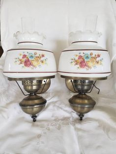 Gorgeous Vintage lamps 16 inches tall inches from the wall no chips or cracks 2 get 2 lamps I do have matching chandelier listed 151 Farmhouse Decor, Hurricane Lamps, Country Lamps, Vintage Hurricane Lamps, Lamp, Wall Mounted Lamps, Vintage Lamps, Retro Lamp, Wall Mounted Sconce