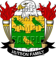 Hutson Family Crest apparel, Hutson Coat of Arms gifts