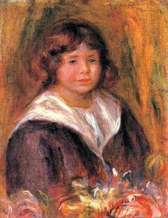 Auguste Renoir - Portrait d'un garçon (Jean Pascalis)