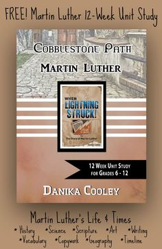 Martin Luther Unit Study pages, for middle and high school students) to go with the book When Lightning Struck! The Story of Martin Luther by Danika Cooley Homeschool High School, Homeschool Curriculum, Homeschooling Resources, Reformation Day, High School History, Church History, High School Students, Middle School, Middle Ages