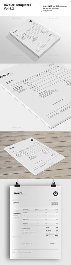 graphic design invoice template by EmandCoDesign on Etsy Invoice Layout, Invoice Design Template, Templates, Web Design, Tool Design, Layout Design, Corporate Design, Business Design, Stationery Design