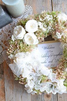 Wreath for front door for party