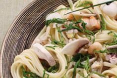 Linguine aux épinards et saveurs de la mer