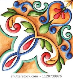 Find Design Ceramic Tiles Majolica Watercolor Ornament stock images in HD and millions of other royalty-free stock photos, illustrations and vectors in the Shutterstock collection. Thousands of new, high-quality pictures added every day. Vintage Tile, Ornaments Design, Wallpaper Iphone Cute, Mexican Art, Art Installation, Ceramic Painting, Tile Art, Tile Patterns, Islamic Art