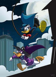 North America meets Europe. Best superhero ducks.