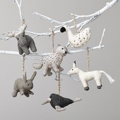 winterland plush animal ornaments...