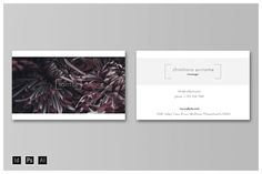 SANTHE Business Card Template by REBEKAH FARR on @creativemarket