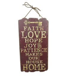 Spring Inspirations Red Faith Wall Decor at Joann.com Online Craft Store, Craft Stores, Chimney Decor, Faith In Love, Joann Fabrics, Patience, Fabric Crafts, Arts And Crafts, Wall Decor