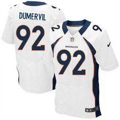 Men's Nike Denver Broncos #92 Elvis Dumervil Elite White NFL Jersey Sale