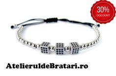 Bratara dama cu Argint 925 cu 3 zaruri cu cristale Zirconia este impletita manual. Bratara dama cu Argint 925 cu 3 zaruri cu cristale Zirconia este ambalata intr-o cutie cadou sau saculet de catifea si poate fi cadoul ideal pentru o zi aniversara sau onomastica. Bracelets, Beauty, Jewelry, Infinite, Blog, Decor, Jewlery, Decoration, Jewerly