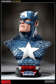 In celebration of America's Independence Day, Sideshow Collectibles and Marvel Comics proudly present the Captain America Life-Size Bust, the latest addition to the Marvel collectible line. #sideshow #marvel #captainamerica