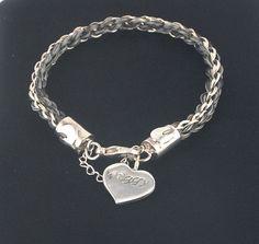 79f3eb589 Custom horsehair bracelet sterling silver horsehair by Enigmahorse Horse  Hair Bracelet, Horse Hair Jewelry,