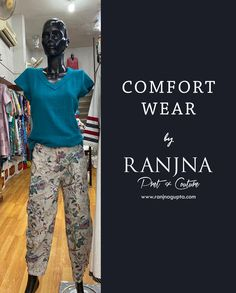 Whole day comfort stylish printed linen pants teamed with cotton matka top. (Design & Creation by RANJNA) _ For orders, appointments, online measurements or general enquiries please call Mr. Shishir Gupta - 77 22 000 459. #ranjna #ranjnapune #ranjnafabrics #stylishpants #linenpants #cottontop #cottonmatka #prints #printedpants #printonlinen #cottonfabrics #indianfashion #designerclothing #clothingdesigner #styleoftheday #buyonline #shoponline Printed Linen, Printed Pants, Linen Pants, Designer Clothing, Appointments, Indian Fashion, Parachute Pants, Cotton Fabric, Stylish