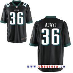 Men's Philadelphia Eagles #36 Jay Ajayi Black Alternate Stitched NFL Nike Elite Jersey