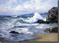 wave breaking on the rocks - Google Search