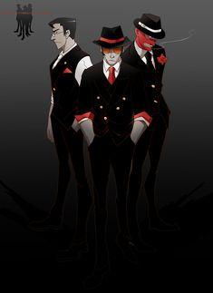 TF2 Mafia Spy Sniper Medic by biggreenpepper.deviantart.com on @deviantART