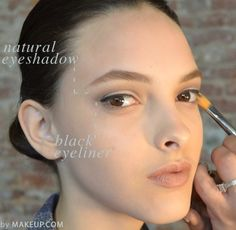 beauty trend to try: natural eyeshadow + black liquid liner