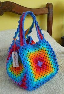 Here's an idea for a fun and colourful crochet bag.  A long-printed yarn like elann Meander would be very effective. http://international.elann.com/product/elann-meander-yarn-5-ball-bag/