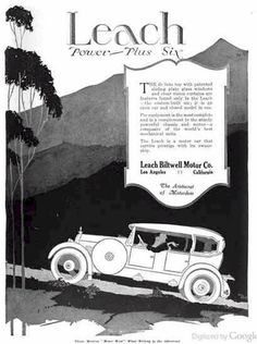 1920 Leach  Automobile Advertisement