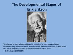 Erik-Erikson stages of child development. What a great pin I am sure I will use this!